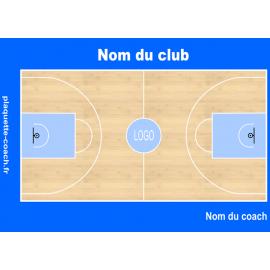 Plaquette basket semi-personnalisée