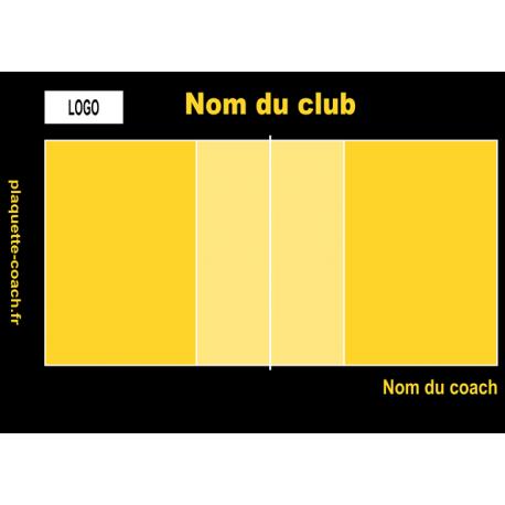 Plaquette volley semi-personnalisée petite taille