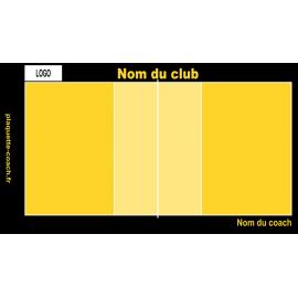 Plaquette volley semi-personnalisée grande taille