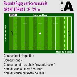 Plaquette entraineur rugby